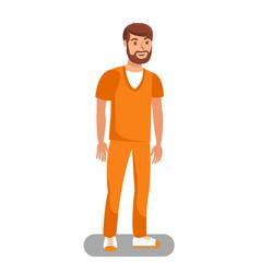 prisoner released on bail flat vector image