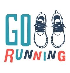 Run sport motivation vector