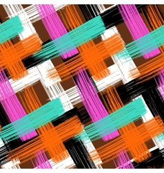 seamless bold plaid pattern vector image