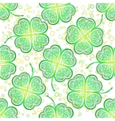 Seamless Pattern Green Clover vector image