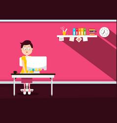 secretary in office - vector image