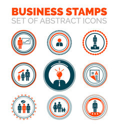 Set of business stamps vector