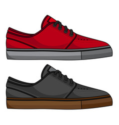 Skateboard shoes vector