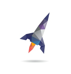 Space rocket launching abstract vector