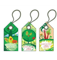 Spring shopping tags set vector