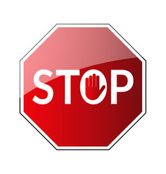 stop traffic road sign vector image