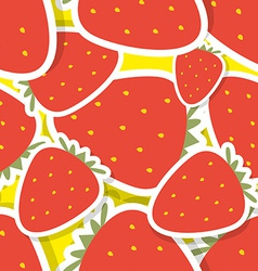 Strawberry pattern Seamless texture with ripe red vector image