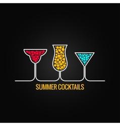 Summer cocktails menu background vector