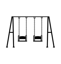 Swing game children icon vector