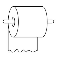 toilet paper on holder icon outline style vector image