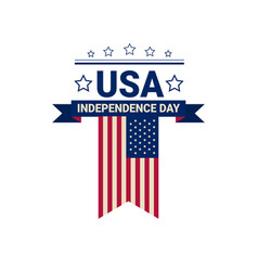 united states flag independence day holiday 4 july vector image