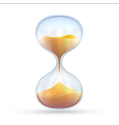 vintage hourglass 3d sand clock vector image