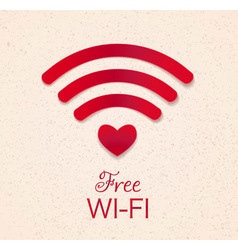 Wi-fi red icon vector