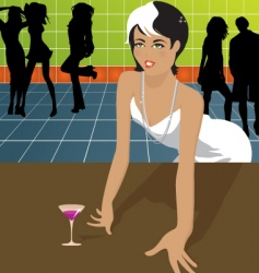woman in dance club vector image