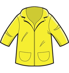 Yellow Rain Coat vector