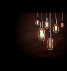 edison light bulb vector image