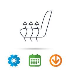 heated seat icon warm autoarmchair sign vector image