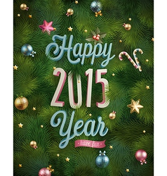 new year tree texture vector image vector image