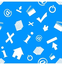 Web icons pattern vector image