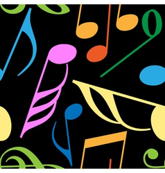 endless music pattern vector image vector image