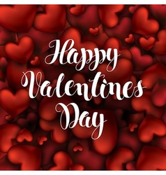Valentines Day Calligraphy Lettering Background of vector image