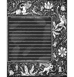 Vintage Blackboard for Valentine Menu vector image vector image