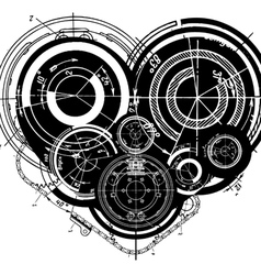 heart mechanisms vector image vector image