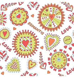 Seamless Romantic Pattern for Valentine s Day vector image vector image