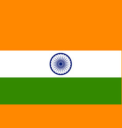 tricolor indian flag background for republic an vector image vector image