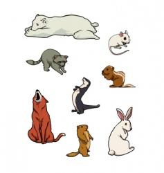 zoo mammals vector image