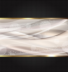 Abstract black wavy design template vector image vector image
