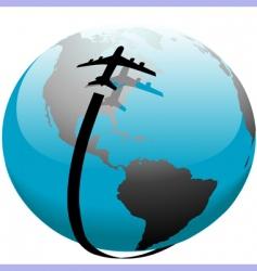 flight path vector image