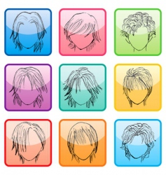 hairstyle set vector image vector image