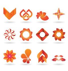 Orange Logo set vector image vector image