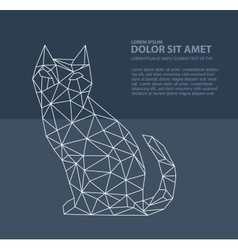 Print polygonal cat vector image vector image