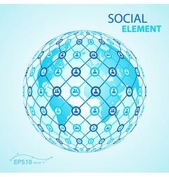 social element globe worldwide vector image vector image