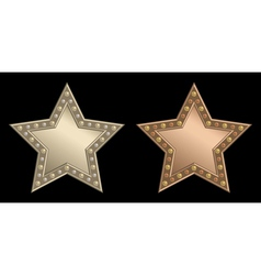 Star plaque vector image