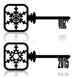 Unlock New Year vector image vector image
