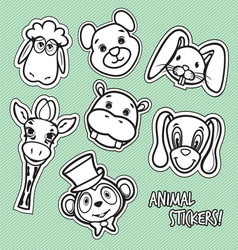 animal stickers3 vector image
