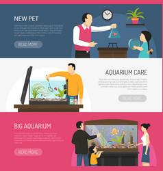 Aquarium banners set vector