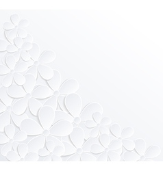 background with flowers made of paper vector image