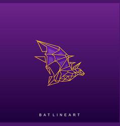 Bat origami template vector