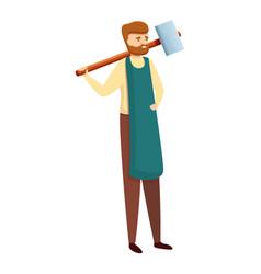 Blacksmith industry icon cartoon style vector