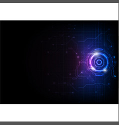 Blue purple futuristic game circuit technology vector