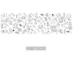 Business development doodles objects background vector
