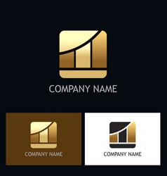 Business finance gold chart logo vector