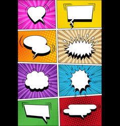 Colorful comic vertical background vector