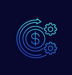 Cost optimization icon thin line vector