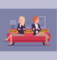 Couple quarrel home scene vector
