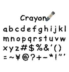 Crayon message frame 2 black vector
